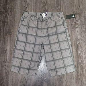 Quiksilver Mens Shorts size 30 Plaid Gray